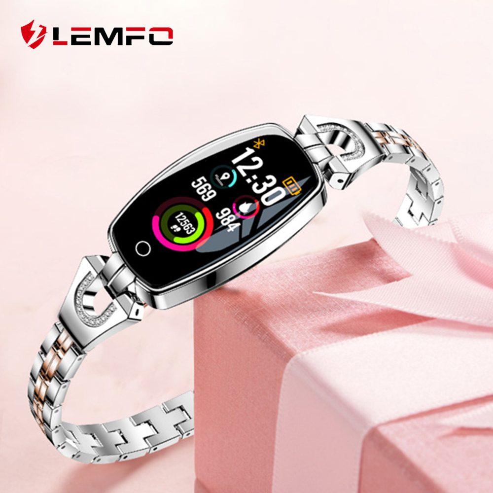 LEMFO H8 Smart Watch women IP67 Waterproof Heart Rate Monitor Smartwatch Women For Android IOS Apple Watch Wristband xanes a6s