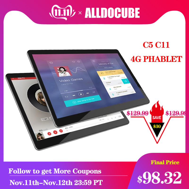Alldocube Tablets C5 C114G Phablet 9.6 Inch Android 7.0 Tablet Mtk6737 32gb Wifi Dual Sim Cards Front Double Cameras