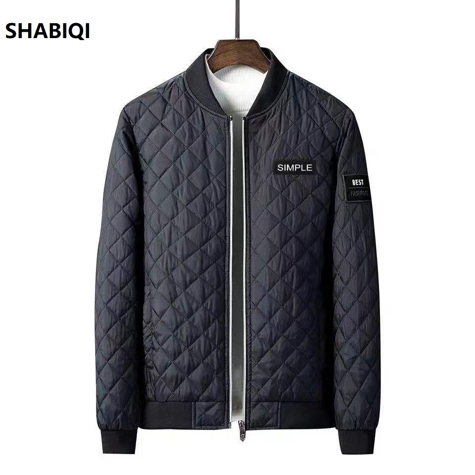 SHABIQI Cotton Jacket Winter Men Thickened Parkas Slim-cut Warm Padded Overcoats Stand Collar Male Wind Breaker