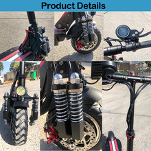 2000W E Scooter Powerful with 10inch Double Engine Fat Tire Electric Scooter Adults Foldable Electric Skateboard Long Hoverboard