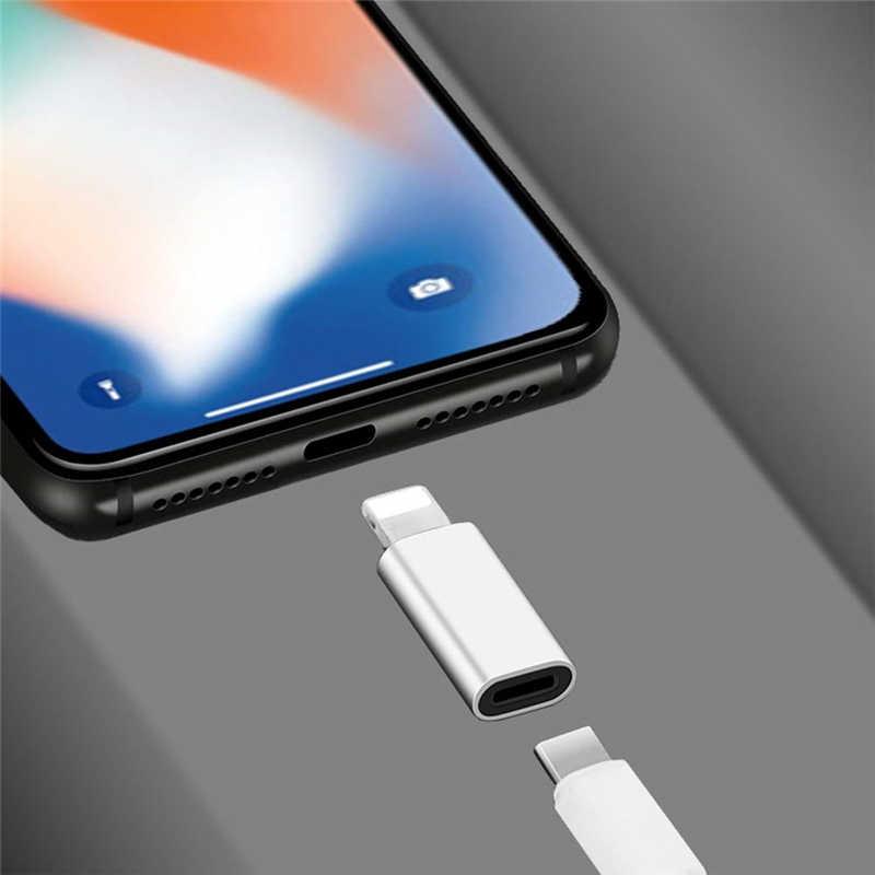 USB Tipe C untuk 8 Pin Pengisian Adaptor Kabel Sinkronisasi Data Charger untuk iPhone 11 Pro X XR X Max 8 7 6 Plus Ipad Ios Dock Biaya Telepon