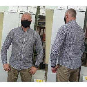 Image 3 - Mens Plaid Cotton Casual Slim Fit Long Sleeve Button Down Dress Shirts 2018 Fashion Men Work Business Brand Shirt Chemise Homme