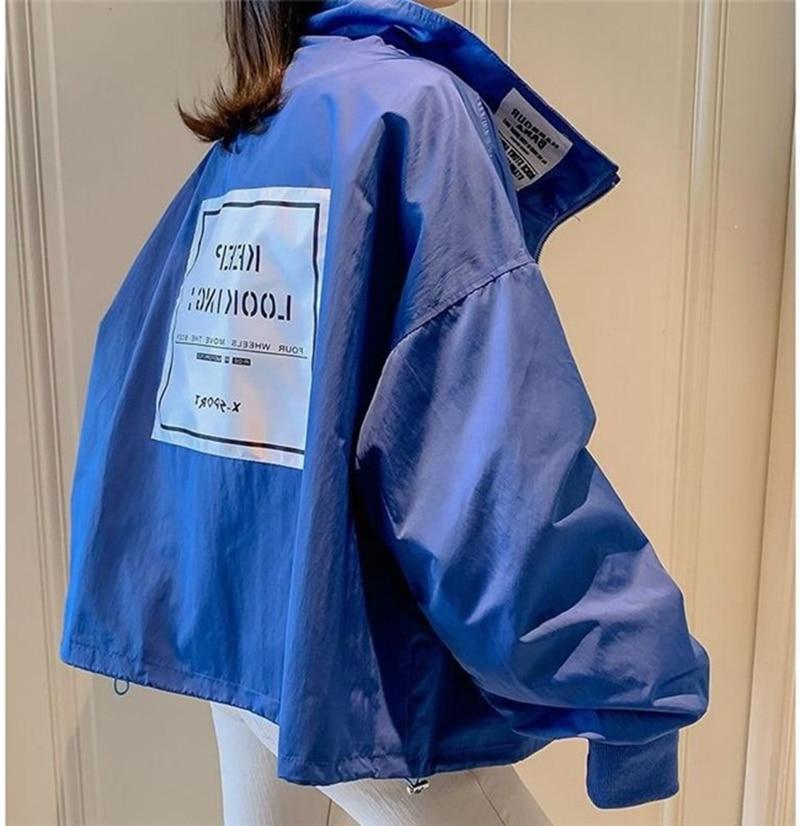 Autumn Windbreaker women   Jackets   Long Sleeve Harajuku Loose   Basic     Jacket   Streetwear Bomber   Jacket   Large Size Women's Outwear
