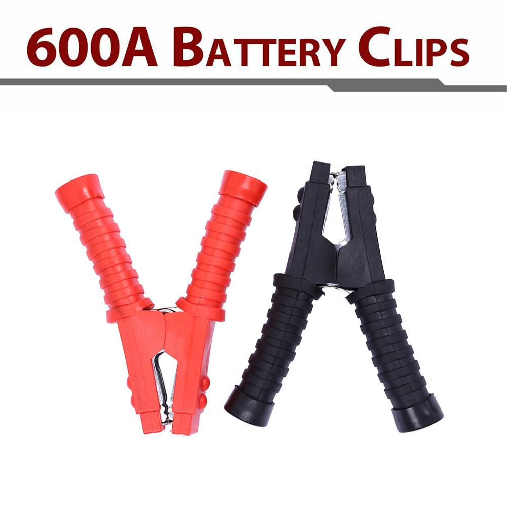 2pcs 600A Battery Clips Booster Test Clamps For Car Battery Cable Starter RD/BK Dropship Mar8