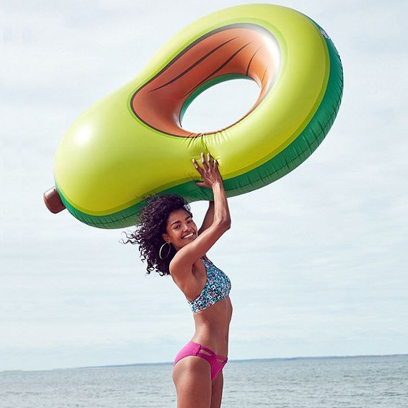 New Inflatable Toys Pear Pool Floats For Adults Swimming PVC Circle Water Toys Summer Beach Party Floating Tool Island