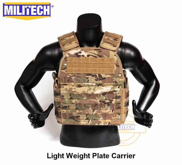 MILITECH Light Weight Vest Military Assault Tactical Plate Carrier Police Overt Wear Body Armor Plate Carrier 1