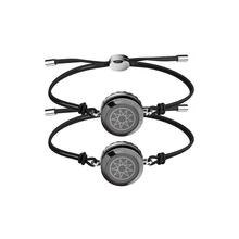 Always sun & moon black smart couple fashion bracelet Jewelry for wedding,Anniversary gifts no distance limit