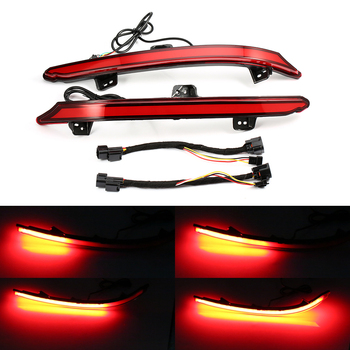 2 pieces Dynamic LED Rear Bumper Reflector Brake Light Sequential Turn Signal Reflector Rear Fog Lamp For Honda Accord 2018 2019