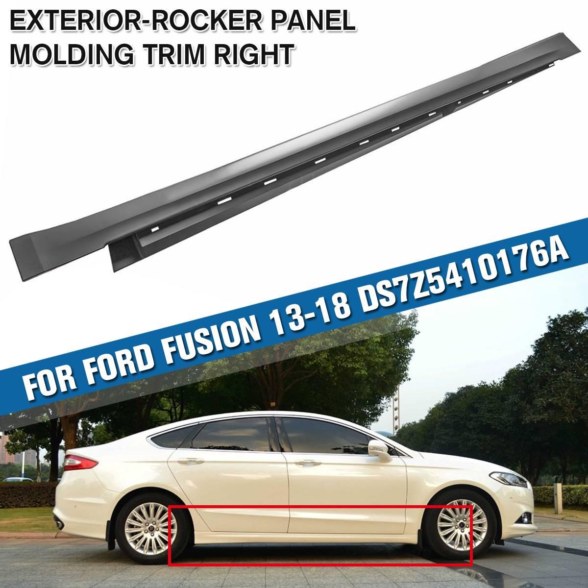 NEW Exterior Rocker Panel Molding Trim Right Door Pillar Trim For FORD FUSION 2013 2018 DS7Z5410176A