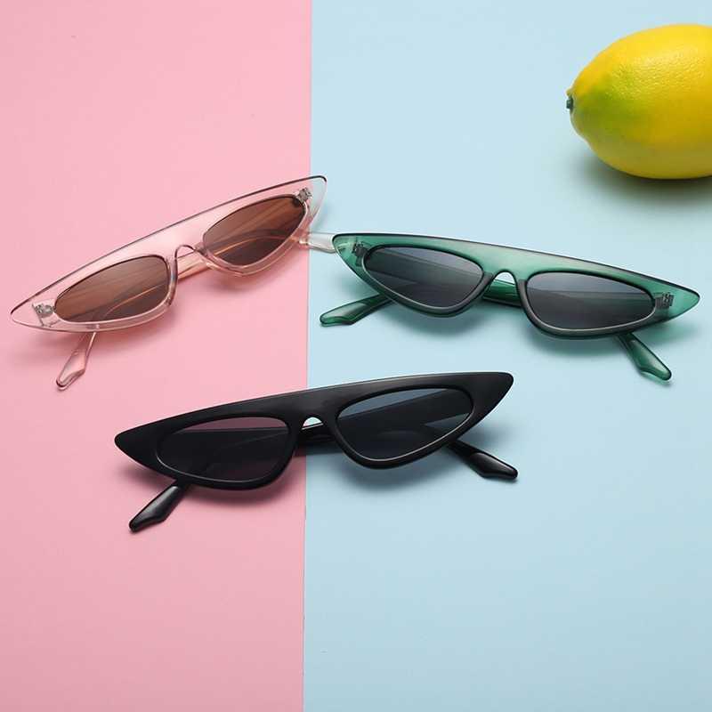 Gafas de sol de ojo de gato pequeñas para mujeres de marca de diseñador de medio marco gafas de espejo rojo gafas triangulares femeninas para hombres UV400