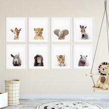 В скандинавском стиле милые маленькие животные слон плакаты