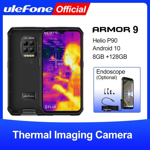 Ulefone Armor 9 Rugged Mobile Phone Thermal Imaging Camera FLIR® Android 10 128GB Smartphone Helio P90 Mobile Phone 6600mAh 64MP 1