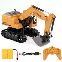 3853 1/24 2.4Ghz 8CH RC Excavator Die cast Metal Construction Tractor Remote Control RC Engineer Truck Car Birthday Gift Toy