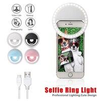LED Selfie טבעת אור חידוש איפור ותאורה Led מראה ניאון סימן Selfie טבעת Led Selfie מנורת נייד טלפונים תמונה הלילה אור