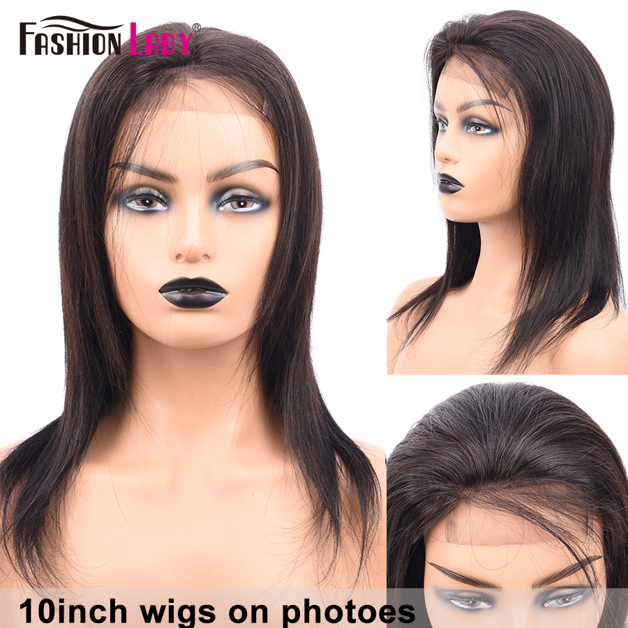 Fashion Lady Lace Closure Wigs Peruvian Human Hair Wigs Pre Plucked Closure Wigs With Baby Hair