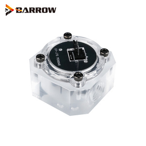 """Image 1 - Barrow G1/4"""" Water Cooling System Electronic Flow Sensor Indicator Access Motherboard To Read Data Flower ,SLF V3"""