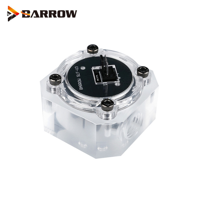 """Barrow G1/4"""" Water Cooling System Electronic Flow Sensor Indicator Access Motherboard To Read Data Flower ,SLF V3"""
