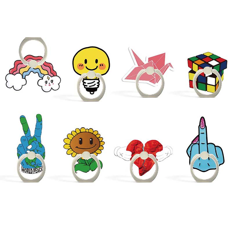 Cartoon Character Phone Holder Ring Mobile Phone Stand Funny Yeah Finger Phone Ring Holder Rotate 360 Degrees Support Celular