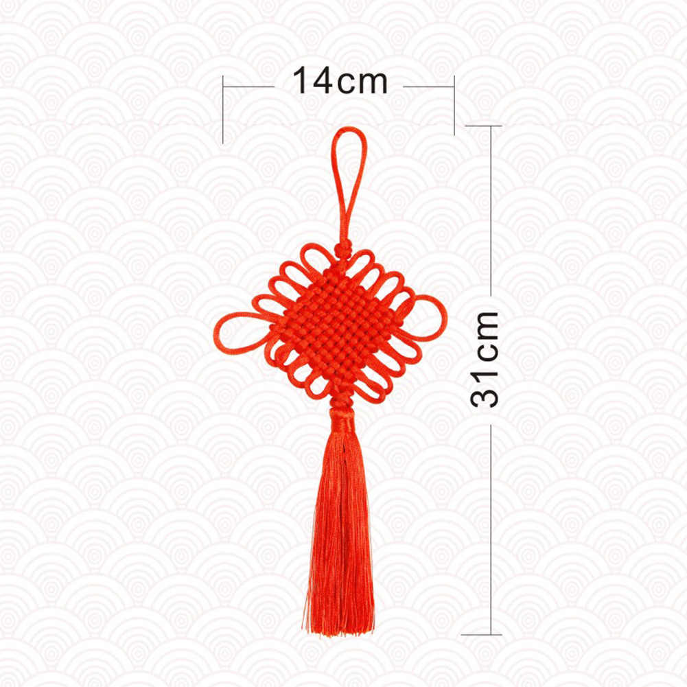 Mão-Tecido Nó Chinês do Ano Novo Ornamento Do Feriado Pendurado Pingente Decoração Da Sua Casa