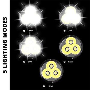 Image 4 - Linterna LED potente XHP50, resistente al agua, aleación de aluminio a prueba de explosiones para iluminación profesional al aire libre, 3 uds.