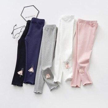 VIDMID Baby Girls primavera otoño pantalones de algodón leggings niñas pantalones ajustados Legging para 3-7 años Niños Niñas Ropa 7096 03