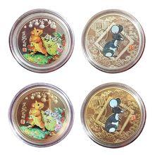 Год крысы памятная монета Китайский Зодиак сувенир вызов Коллекционная M76D