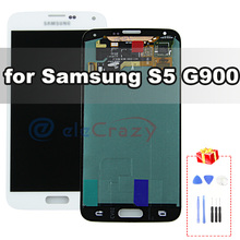 For Original Samsung Galaxy S5 i9600 LCD G900 G900F G900M G900H Display Touch Screen Digitizer Assembly Replacement NO Dead Pixe