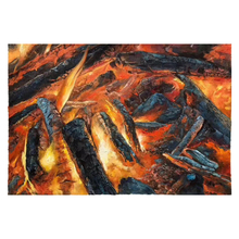 100% Hand Painted Realistic Bonfire Art Oil Painting On Canvas Wall Adornment Picture For Live Room Home Decor