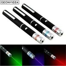 Зеленая лазерная ручка 5 мВт 650нм, черный мощный Видимый светильник, лазерная указка, 3 цвета, Мощная военная лазерная указка