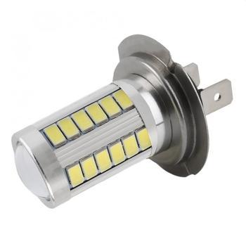 1pcs  H7 Super Bright White Car 360 Degree Light LED Fog 5630 SMD 33 Driving Signal Bulbs Lamps Auto Lamp