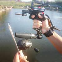 Neue Elastische Jagd Angeln Schleuder Schießen Katapult Bogen Pfeil Rest Bogen Laser Sling Shot Katapult Armbrust Bolzen Schießen Fisch