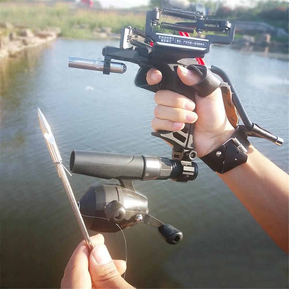 Nouveau élastique chasse pêche fronde tir catapulte arc flèche repos arc Laser fronde tir catapulte arbalète boulon tir poisson