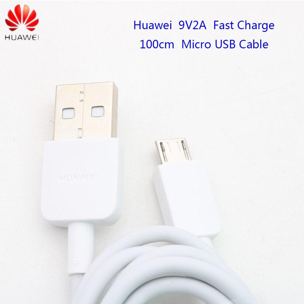 Huawei original companheiro 10 lite carregador cabo 2a micro usb cabo rápido para p8 p9 p10 lite companheiro 10 lite honra 8x 7x y5 y6 y7 y9