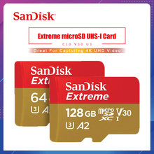 Sandisk – carte Micro SD Extreme, 32 go/64 go/128 go, A2/A1/V30/U3, TF, mémoire Flash, livraison gratuite