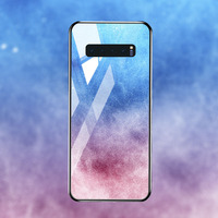 silicone case Tempered Glass Case For samsung galaxy S10 S9 S8 plus Cases Space Silicone Covers for samsung S10E note 8 back cover (5)