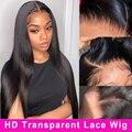 30 дюймовый HD Синтетические волосы на кружеве al парик 13x6 бесклеевой прозрачный с прямыми Синтетические волосы на кружеве человеческих волос...