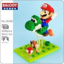 Balody super mario voar yoshi goomba koopa 3d modelo diy mini diamante blocos de construção tijolos brinquedos educativos para o presente das crianças