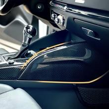 ABS סיבי פחמן trim לאאודי A3 8V S3 RS3 2014 כדי 2018 מרכז קונסולת shift לשתות מחזיק פנים קישוט מדבקת 3D