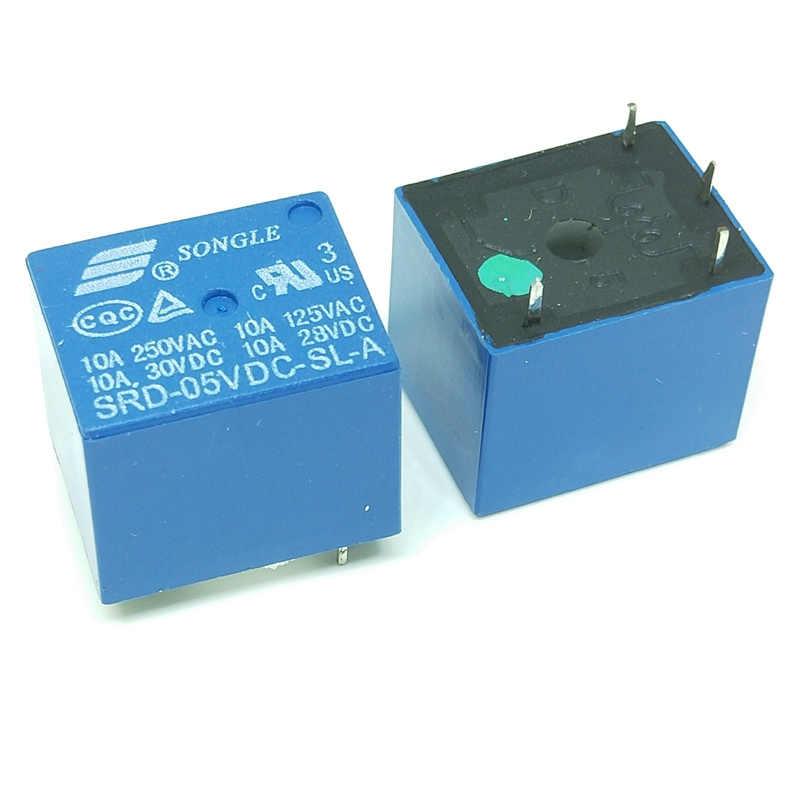 Relais SRD-05VDC-SL-A SRD-12VDC-SL-A SRD-24VDC-SL-A SRD-48VDC-SL-A 05V 12V 24V 48V 10A 250VAC 4PIN