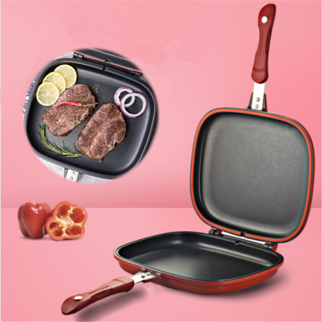 Double Sided Grill Pan Home Appliances Unisex color: 28cm|32cm