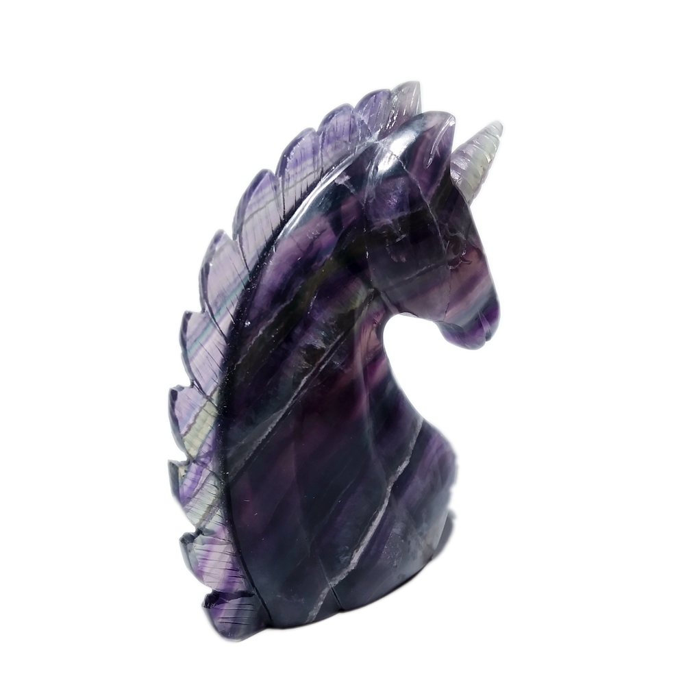 Natural  Stone Fluorite Unicorn Decoration Crystal Home Decoration For Fengshui Healing Energy Meditation Stone