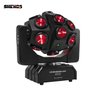 Led Bee Eye Moving Head Light 18x12W RGBW 4in1 Professional Stage Light Whirlwind Par DJ Beam Wash Effect Light Birthday Dance W