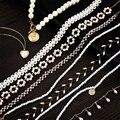 Mode Kristall Perle Halsketten Für Frauen Vintage Bogen Knoten Blume Münze Choker Halskette Temperament Schmuck 2020 Neue