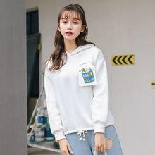 Новинка Осень 2020 женские пуловеры с длинными рукавами и капюшоном