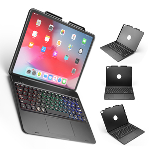 Keyboard For iPad Pro 12.9 11 2018 Case with Trackpad Keyboard 7 colors Backlit USA Bluetooth Keyboard Case For iPad Pro 12 9(China)