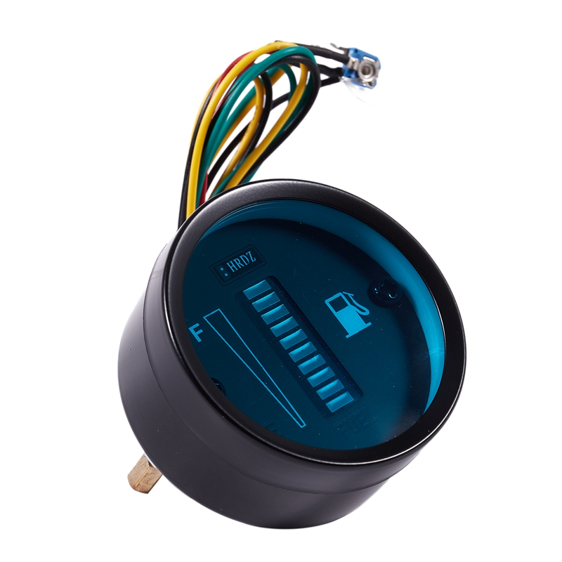 """ 52 мм синий светодиодный цифровой инструмент датчик уровня топлива Borletti Автомобиль Мотоцикл"