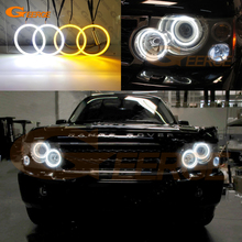 Cho Land Rover Range Rover Vogue L322 Thể Thao Trường HSE L320 Siêu Sáng Ngày Đèn LED Tín Hiệu Đèn LED SMD Thiên Thần mắt Hào Quang Nhẫn Bộ