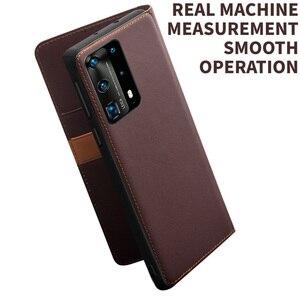 Image 5 - Brieftasche Telefon Fall Flip Cover für Huawei P40 P40Pro Echtem Leder Telefon Bag Business Cases Abdeckungen für Huawei P40 Pro abdeckung