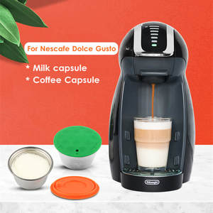 COFFEE-FILTERS Dolce Gusto Nescafe Refillable Capsules-Pod Milk Stainless-Steel New Foam
