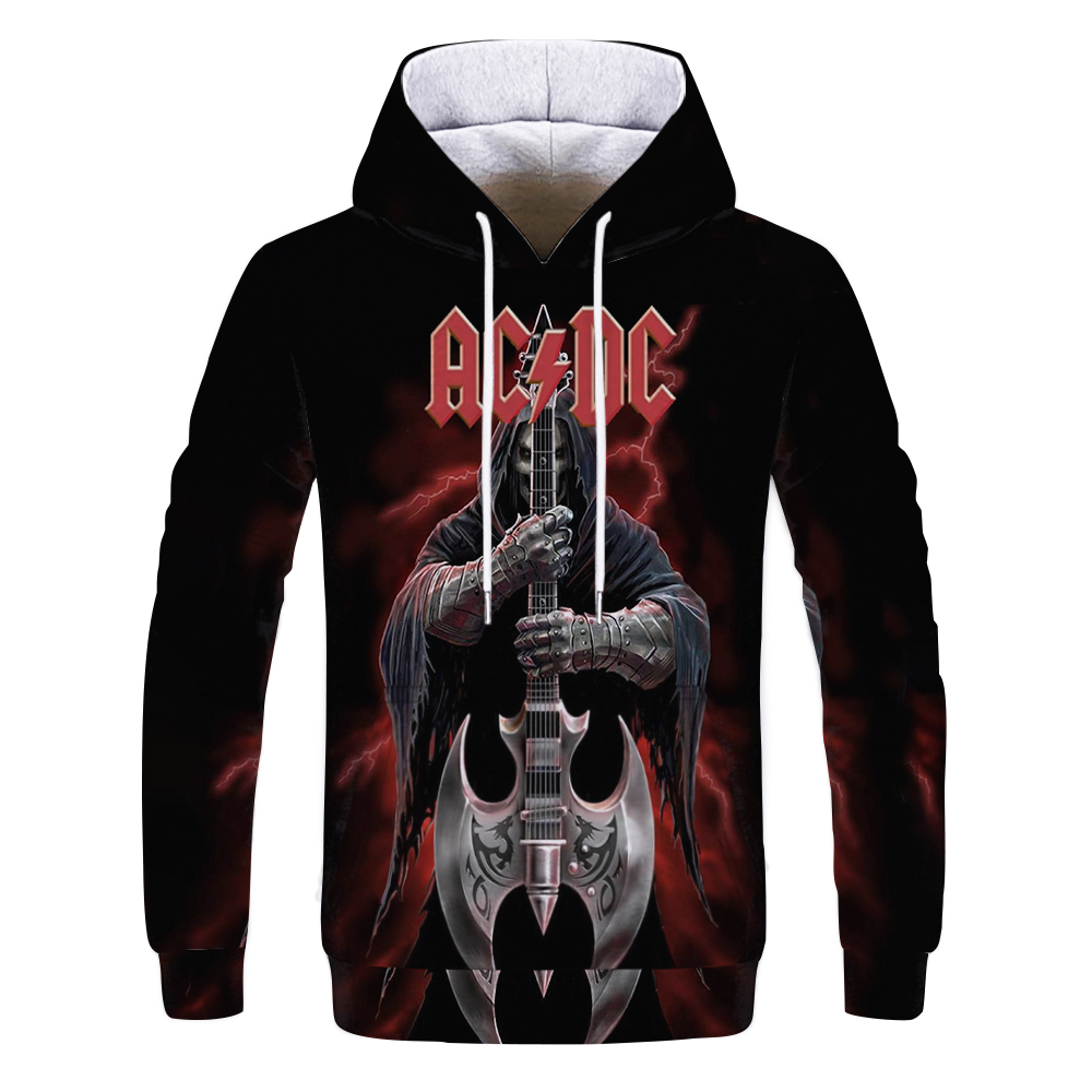 Mens Hoodies 3D Printed AC DC Rock Crime Tops Sweatshirts Men Women's Hoodie Comic Casual Harajuku Tracksuit Streetwear Out Coat